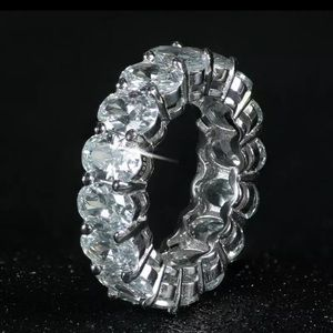 Gorgeous Oval Lab Created Diamond Band